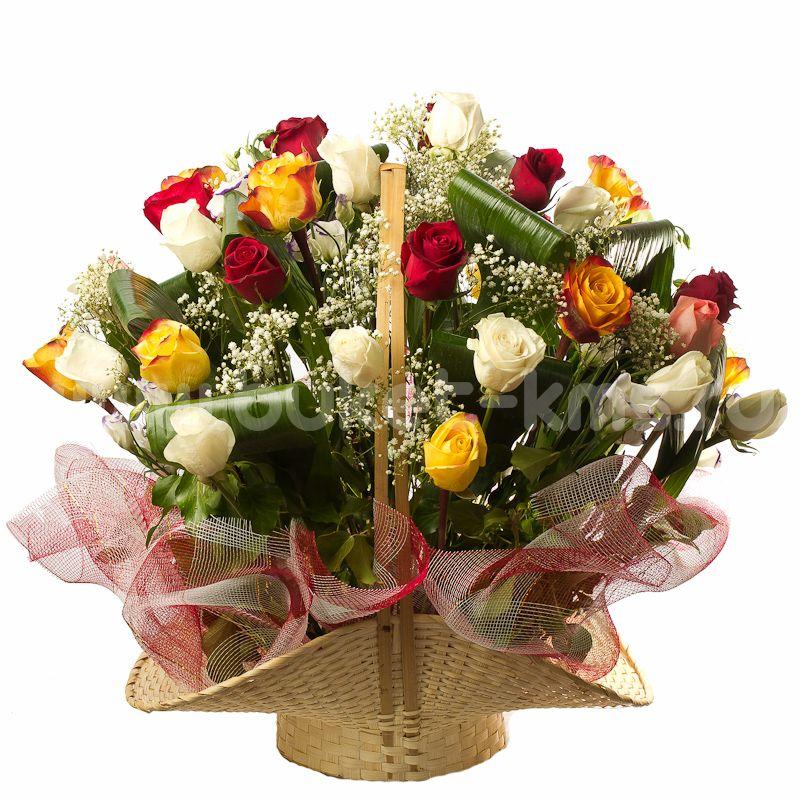 Фото подарочных корзин с цветами 137